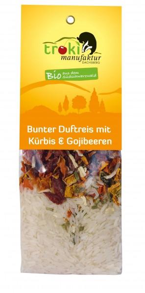 Bunter Duftreis mit Kürbis & Gojibeeren