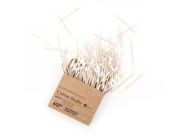 Wattestäbchen aus Bambus & Bio-Baumwolle –