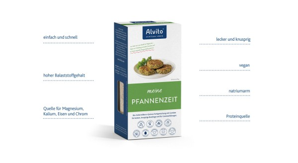 PfannenZeit bio 200g / Hafervollkorn-Quinoa-Fertigmischung mit Gemüse, Bio-