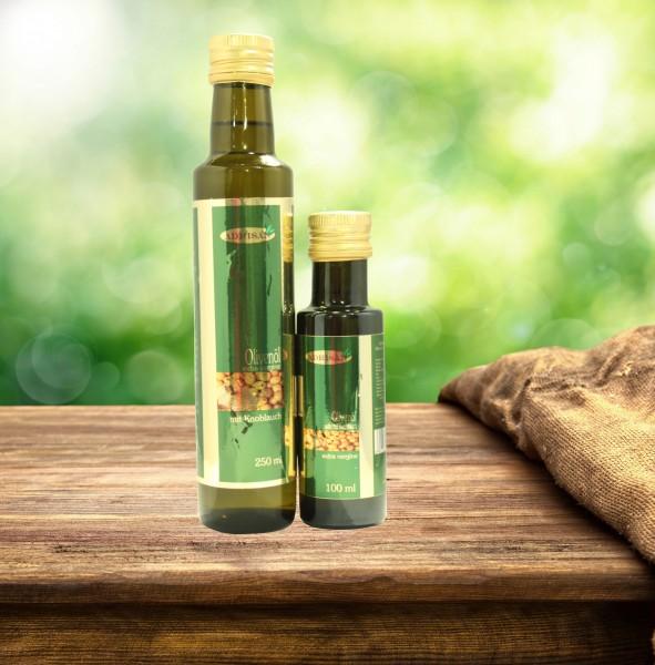 Olivenöl mit Knoblauch extra vergine