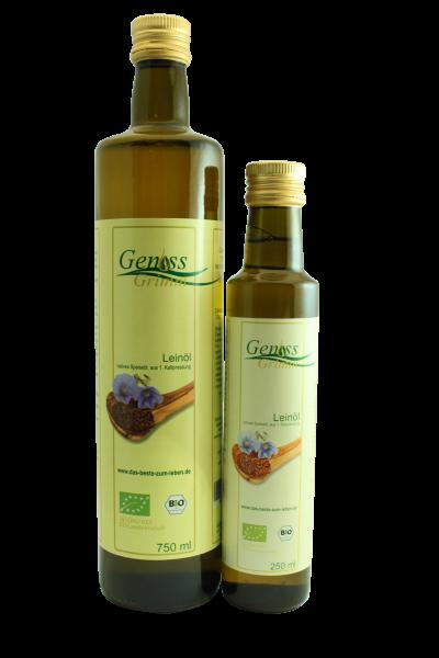 Leinöl, 1. Kaltpressung BIO omega-safe